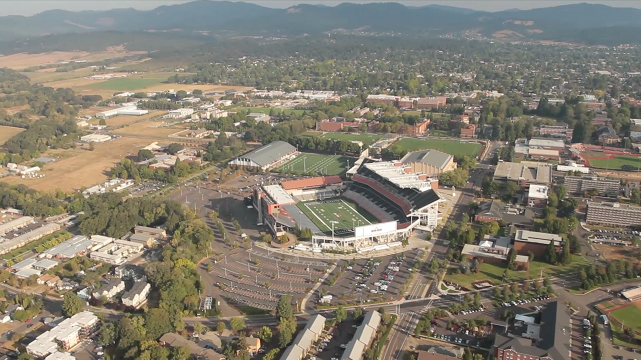 Aerial Photo of Reser Stadium